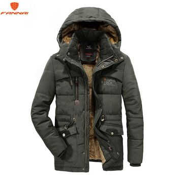 new Men Winter Jacket 6XL 7XL 8XL Thick Warm Parka Fleece Fur Hooded Military Jacket Coat Pockets Winter jacket men Windbreaker