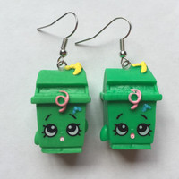 Shopkins Foodie Earrings - Lisa Litter - repurposed toys