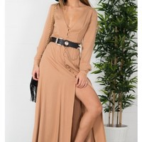 Cape Town Maxi Dress in Camel