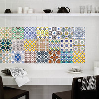 Tiles Stickers - Tiles Decals - Tiles for Kitchen or Bathroom - PACK OF 20 - Mexico, Morocco, Portugal, Spain, Mosaic