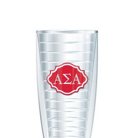 Alpha Sigma Alpha Tumbler -- Customize with your monogram or name!