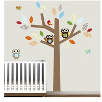 Kids Vinyl Wall Decals with Owls Birds Pattern by Modernwalls