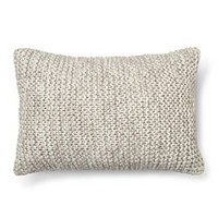 "Chunky Knit Oblong Decorative Pillow (20""x14"") Gray - Threshold™ : Target"