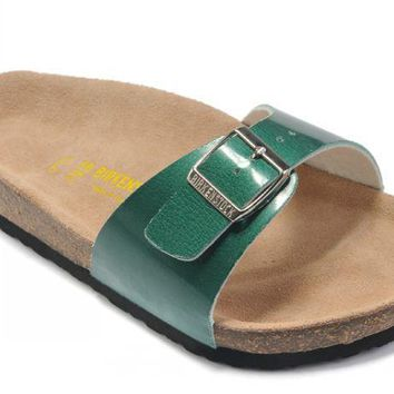 Birkenstock Madrid Sandals Artificial Leather Green - Ready Stock