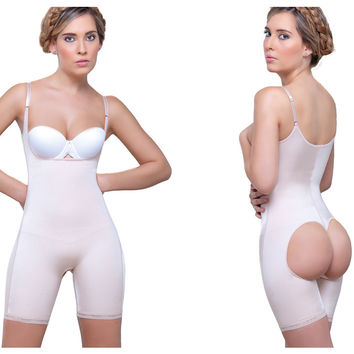 Vedette Amelie Open Bottom Mid thigh Shaper.