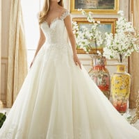 Bridal Gown Ball Gown Lace Button Back Wedding Dress Vintage Country Western Wedding Dresses 2017 New Vestido De Noiva  WB100