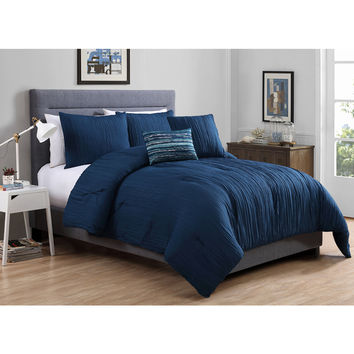 VCNY Crinkle 4-piece Comforter Set | Overstock.com Shopping - The Best Deals on Comforter Sets