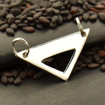 Sterling Silver Triangle Festoon with Triangle Cut Out