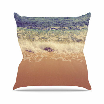 "Violet Hudson ""Crashing Waves"" Beach Coastal Outdoor Throw Pillow"
