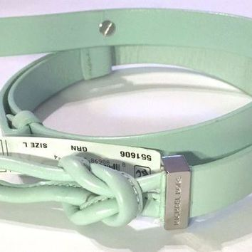 DCCKLO8 New Michael Kors Mint Green Knot Buckle Loop Belt MK Medium L $48