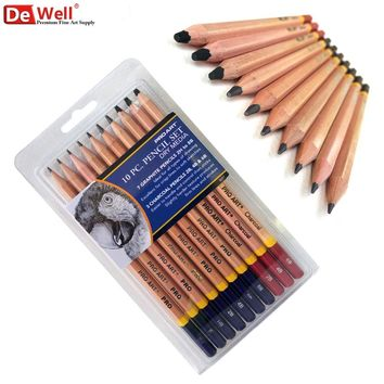 Artist 10Pcs/set Graphite 2H-8B Professional Sketch Pencil Set For Pencil Drawing Tools Charcoal Pencils Set Art Supplies