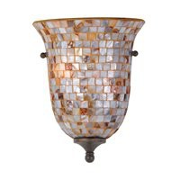 ATGStores - Quoizel MY8801ML 2 Light Monterey Mosaic Wall Sconce, Malaga