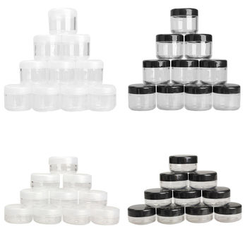 10Pcs pack Cosmetic Empty Jar Pot Eyeshadow Makeup Face Cream Container Mini Box 10 20g