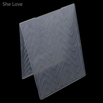 She Love Scrapbooking Embossing Folder Heart to Heart Plastic Template DIY Card Making Decoration Papercraft