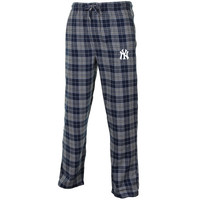 New York Yankees Roster Flannel Pants - Navy Blue