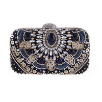 Women Evening Bags Beaded Wedding Handbags Clutch Purse For Wedding Day Clutches Purse Bags Embroidery Bags SMYXST-E0052