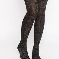 ASOS | ASOS Glitter Over The Knee Socks at ASOS