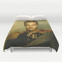 Leonardo Dicaprio - replaceface Duvet Cover by Replaceface