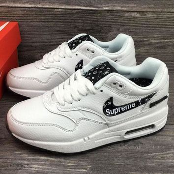 7392e4470796 Supreme x Louis Vuitton x Nike Air Max 1 Custom Running Sneakers