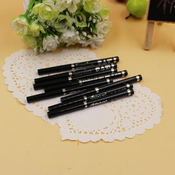 Fashion High Quality Long Lasting Black Waterproof Eyeliner Pencil Eyeshadow Natural Cosmetic Makeup