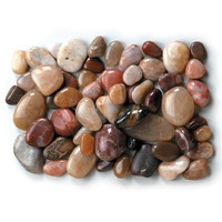 Natural River Rocks - Assorted Smooth - For Creating Pathways for Fairy Gardens, Gnome Villages or Using for Vase Fillers or Table Scatters - Approximately 6.5 Lb.