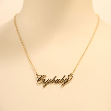 Crybaby Nameplate Necklace