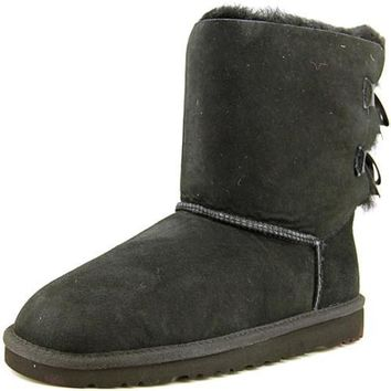 Ugg Boots Australia Bailey Bow ugg snow Boot - Black (Girls)
