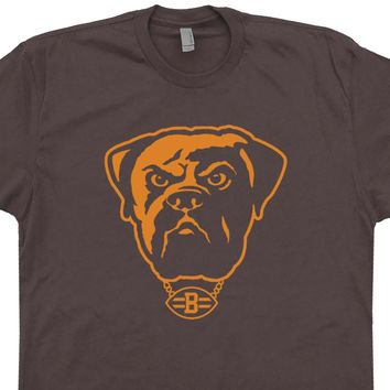 Vintage Cleveland Brown Shirt Cleveland Browns Dawg Pound T Shirt Vintage Logo Graphic Tee