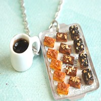 brownies and coffee necklace