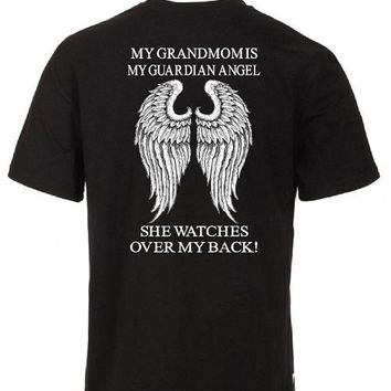 My Grandmom Is My Guardian Angel She Watches Over My Back! Basic Tee