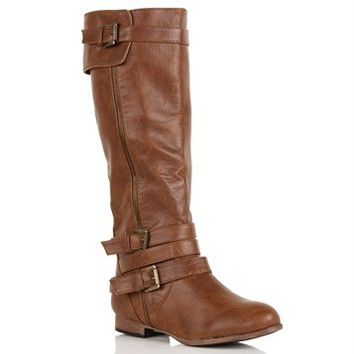 Whiskey Double Buckle Boot