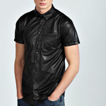 PU Short Sleeve Shirt