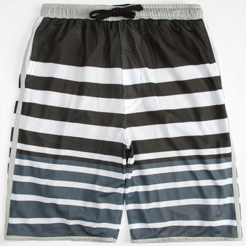 Shouthouse Jackson Boys Mesh Shorts Black/White  In Sizes