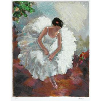 White Dancer by Hedva Firenci, Wall Art Size: 22H x 17.5 W