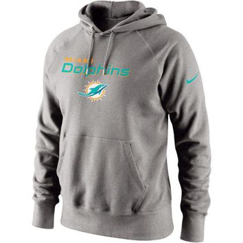 Men's Miami Dolphins Nike Gray Lockup Pullover Hoodie