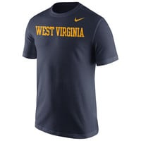Men's Nike Navy West Virginia Mountaineers Wordmark T-Shirt