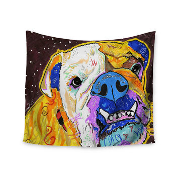 "Rebecca Fisher ""Tucker"" Bulldog Wall Tapestry"