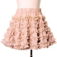Off-white Tutu Skirt - Peach My Heart Petticoat | UsTrendy