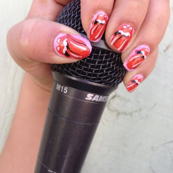 ROCKSTAR VALENTINE Rolling Stones TONGUE Nail Decals