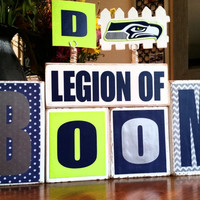 Show your pride for your Seattle Seahawks Secondary with this Legion of Boom Custom Wooden Block Set
