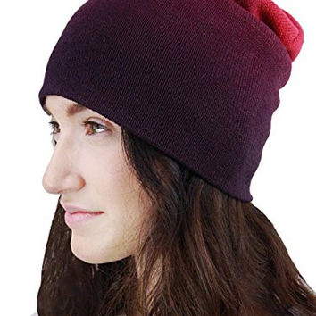 YogaColors Essential Slouchy Beanie (Violet Ombre)