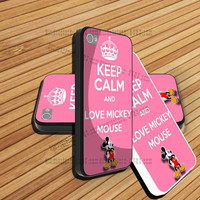 iphone 5 case,iphone 4/4s case,keep calm and love mickey mouse,accesories,samsung s3 case,samsung s4 case,cover