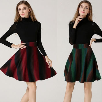 Winter Fashionable Women Midiskirt Expansion Skirt Umbrella Skirt  Sexy Mini Short Skirt = 1704138820