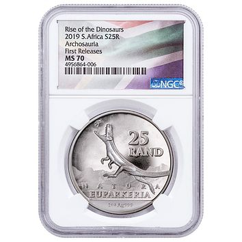 2019 South Africa 1 oz Silver Natura Euparkeria NGC MS-70 (First Releases)