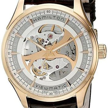 Hamilton Men's H42545551 Jazzmaster Analog Display Automatic Self Wind Brown Watch
