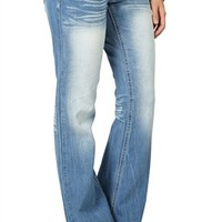 Reign Bootcut Jean in Light Blasted Wash and Stud Pockets