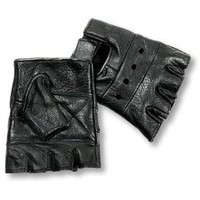 Interstate Leather Men's Basic Fingerless Gloves (Black, X-Small)