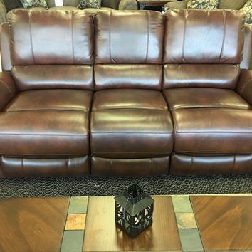 Leather and Gel Infused Reclining Sofa and Loveseat