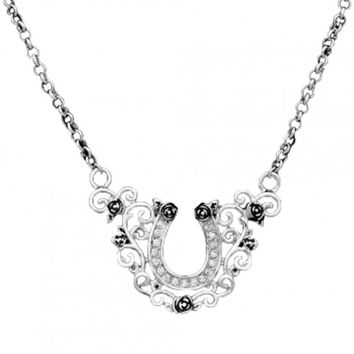 Silver Horseshoe Necklace