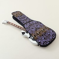 Goth Purple Ornament With Skull Guitar Case